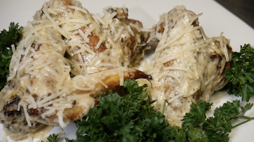 How To Make Alfredo Chicken Wings [VIDEO]