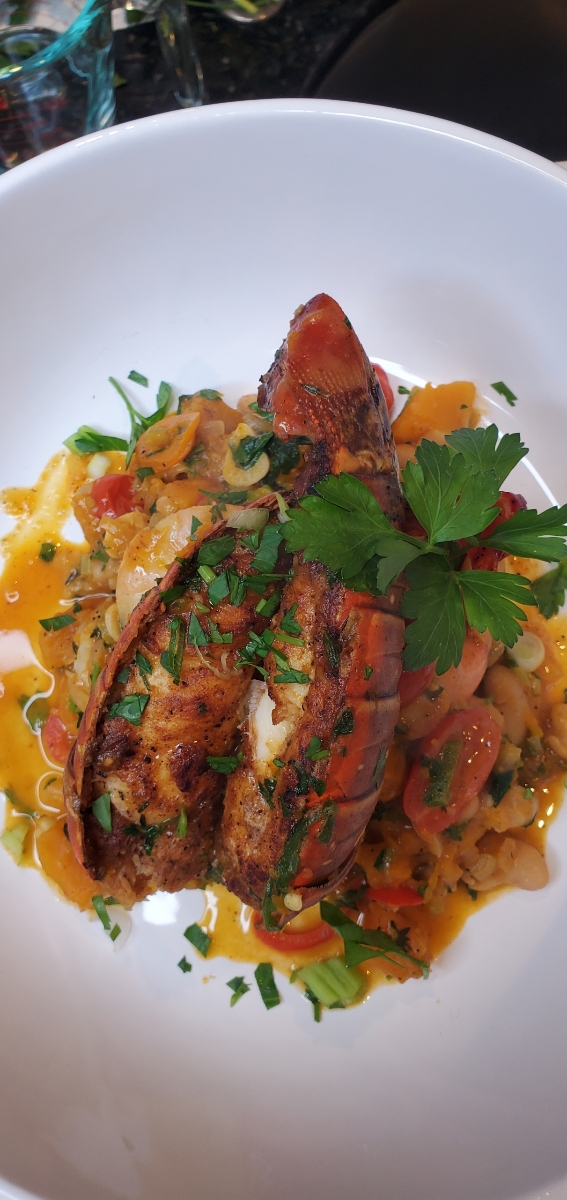 How To Make Calabaza Pumpkin & Canellini Bean Ragu With Seared Lobster & Shrimp [VIDEO]