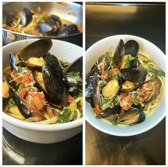 How To Make Mussels & Linguine With White Wine & Butter [VIDEO]